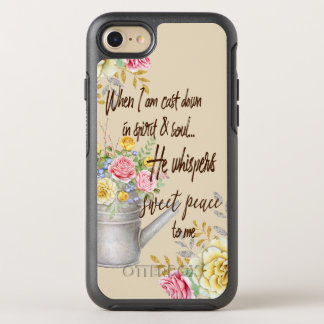 Coque OtterBox Symmetry iPhone 8/7 Il chuchote la citation douce d'hymne de paix