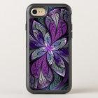 Coque OtterBox Symmetry iPhone 8/7 La florale abstraite Chanteuse en verre souillé de