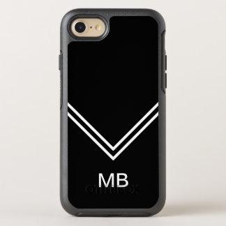 Coque OtterBox Symmetry iPhone 8/7 Le monogramme d'hommes modernes