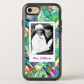 Coque OtterBox Symmetry iPhone 8/7 Les colibris dans la jungle   ajoutent votre photo