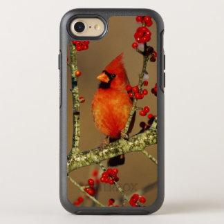 Coque OtterBox Symmetry iPhone 8/7 Mâle cardinal du nord été perché, IL