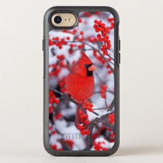 Coque OtterBox Symmetry iPhone 8/7 Mâle cardinal du nord, hiver, IL