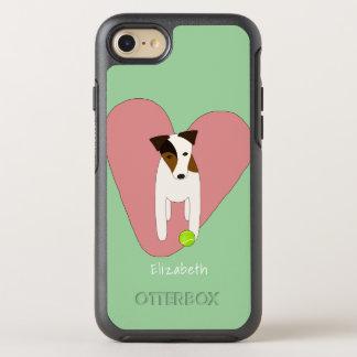 Coque OtterBox Symmetry iPhone 8/7 Menthe de rose de balle de tennis de coeur de