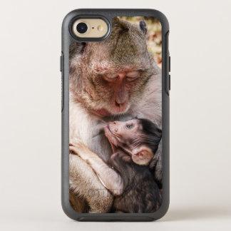 Coque OtterBox Symmetry iPhone 8/7 Mère de singe et singe de bébé