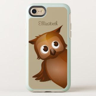 Coque OtterBox Symmetry iPhone 8/7 Monogramme drôle nommé fait sur commande mignon