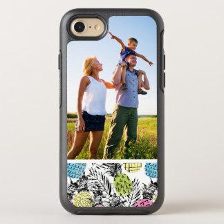 Coque OtterBox Symmetry iPhone 8/7 Paumes de grunge d'ananas de photo