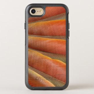 Coque OtterBox Symmetry iPhone 8/7 Plumes Rouge-Oranges d'ara d'écarlate