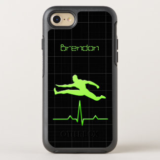 Coque OtterBox Symmetry iPhone 8/7 Sauter personnel vert noir d'homme de forme