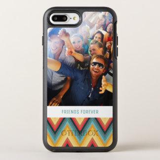 Coque OtterBox Symmetry iPhone 8 Plus/7 Plus Arrière - plan rayé 2 de zigzag de photo et de