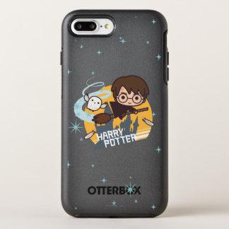 Coque OtterBox Symmetry iPhone 8 Plus/7 Plus Bande dessinée Harry et vol de Hedwig après