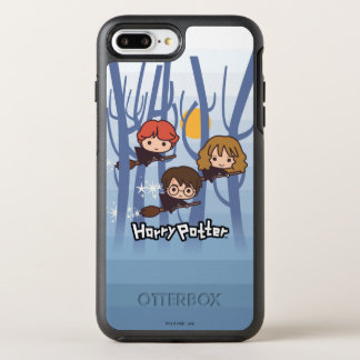 Coque OtterBox Symmetry iPhone 8 Plus/7 Plus Bande dessinée Harry, Ron, et vol de Hermione en