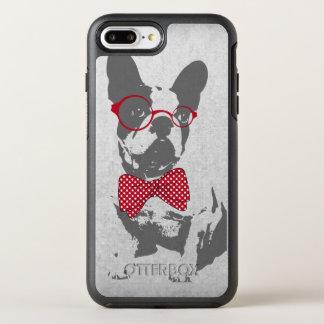 Coque OtterBox Symmetry iPhone 8 Plus/7 Plus Bouledogue français animal vintage à la mode drôle