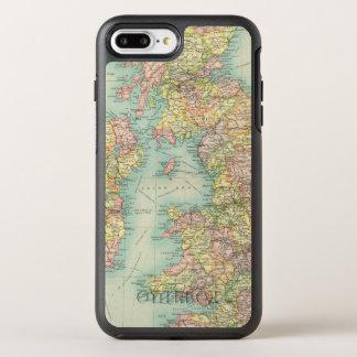 Coque OtterBox Symmetry iPhone 8 Plus/7 Plus Carte politique d'îles britanniques