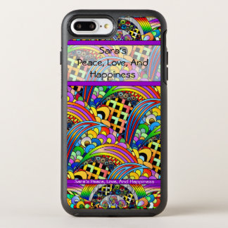 Coque OtterBox Symmetry iPhone 8 Plus/7 Plus Cas de téléphone de paix, d'amour et de bonheur