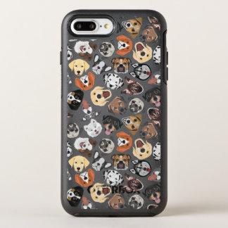 Coque OtterBox Symmetry iPhone 8 Plus/7 Plus Chiens domestiques doux de motif d'illustration