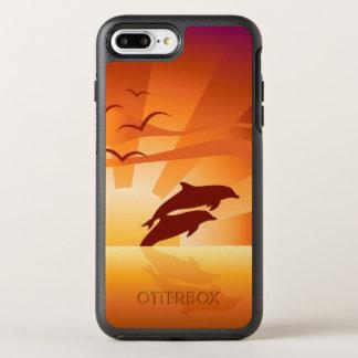 Coque OtterBox Symmetry iPhone 8 Plus/7 Plus Coucher du soleil de dauphin