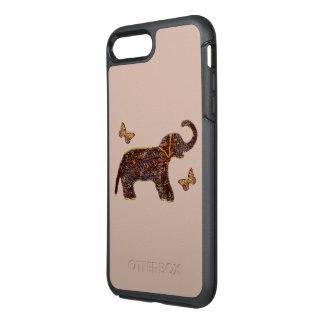 Coque OtterBox Symmetry iPhone 8 Plus/7 Plus Éléphant rose exotique