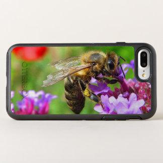Coque OtterBox Symmetry iPhone 8 Plus/7 Plus Fleur de pourpre d'abeille