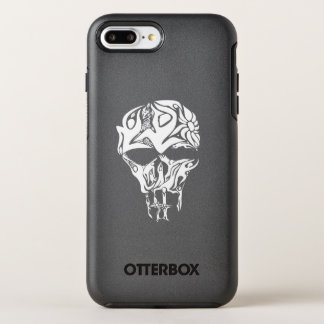 Coque OtterBox Symmetry iPhone 8 Plus/7 Plus Illustration abstraite de crâne, personnes formées