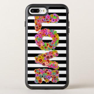 Coque OtterBox Symmetry iPhone 8 Plus/7 Plus La fleur psychédélique d'amour marque avec des
