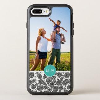 Coque OtterBox Symmetry iPhone 8 Plus/7 Plus Le monochrome Pineapples  ajoutent votre photo et