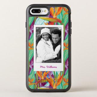 Coque OtterBox Symmetry iPhone 8 Plus/7 Plus Le motif   de Strelitzia ajoutent votre photo et
