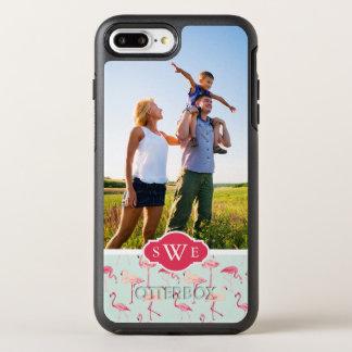 Coque OtterBox Symmetry iPhone 8 Plus/7 Plus Le rétro flamant Pattern| ajoutent votre photo et