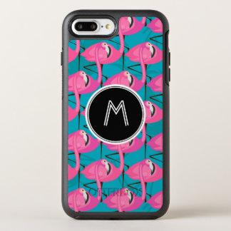 Coque OtterBox Symmetry iPhone 8 Plus/7 Plus Les flamants au néon deux | ajoutent votre
