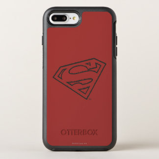 Coque OtterBox Symmetry iPhone 8 Plus/7 Plus Logo grunge latéral du S-Bouclier | de Superman