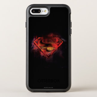 Coque OtterBox Symmetry iPhone 8 Plus/7 Plus Logo peint par | de S-Bouclier de Superman