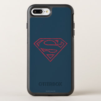 Coque OtterBox Symmetry iPhone 8 Plus/7 Plus Logo rouge d'ensemble du S-Bouclier | de Superman