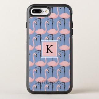 Coque OtterBox Symmetry iPhone 8 Plus/7 Plus Monogramme tendre du motif | de flamant