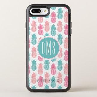 Coque OtterBox Symmetry iPhone 8 Plus/7 Plus Monogramme vintage du motif | d'ananas