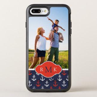 Coque OtterBox Symmetry iPhone 8 Plus/7 Plus Motif blanc et bleu rouge | votre photo et