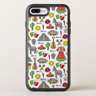 Coque OtterBox Symmetry iPhone 8 Plus/7 Plus Motif de symboles du Mexique |