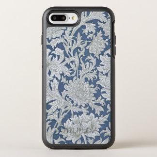 Coque OtterBox Symmetry iPhone 8 Plus/7 Plus Motif floral bleu vintage