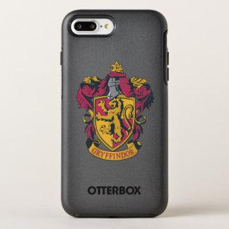Coque OtterBox Symmetry iPhone 8 Plus/7 Plus Or et rouge de crête de Harry Potter | Gryffindor