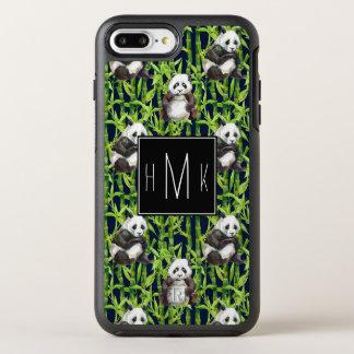 Coque OtterBox Symmetry iPhone 8 Plus/7 Plus Panda avec le monogramme en bambou du motif |