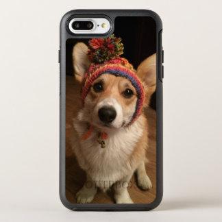 Coque OtterBox Symmetry iPhone 8 Plus/7 Plus Pembroke de corgi de Gallois utilisant un