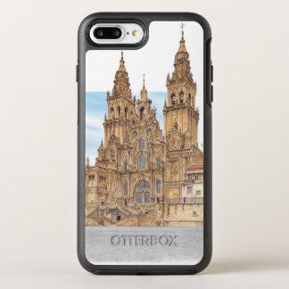 Coque OtterBox Symmetry iPhone 8 Plus/7 Plus Saint-Jacques-de-Compostelle. Façade occidental.
