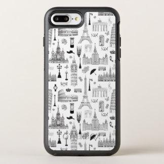 Coque OtterBox Symmetry iPhone 8 Plus/7 Plus Vacances dans le motif de l'Europe