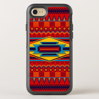 Coque Otterbox Symmetry Pour iPhone 7 Beau motif africain rouge de textile