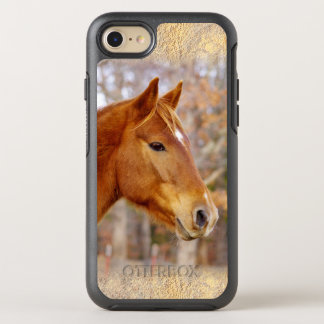 Coque Otterbox Symmetry Pour iPhone 7 Bel iPhone 6/6s Otterbox de cheval de châtaigne
