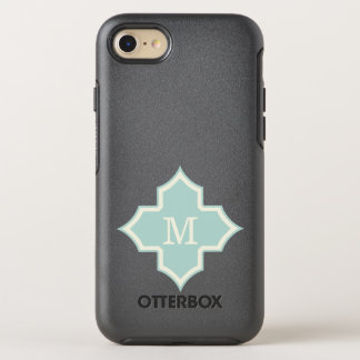 Coque Otterbox Symmetry Pour iPhone 7 Cadre en bon état de Quatrefoil de monogramme
