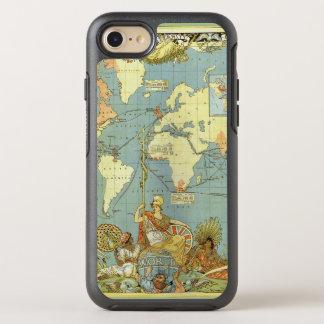 Coque Otterbox Symmetry Pour iPhone 7 Carte antique du monde de l'Empire Britannique,