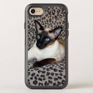 Coque Otterbox Symmetry Pour iPhone 7 Chat siamois avec des taches d'animal sauvage