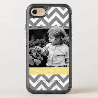 Coque Otterbox Symmetry Pour iPhone 7 Chevron jaune barre le cadre de photo
