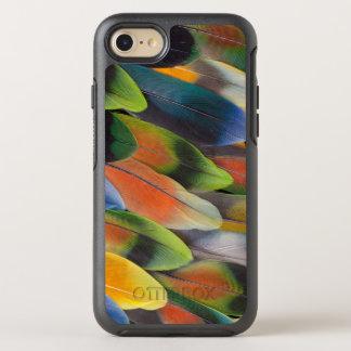 Coque Otterbox Symmetry Pour iPhone 7 Conception colorée de plume de perruche