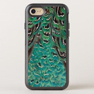 Coque Otterbox Symmetry Pour iPhone 7 Détail de plume de faisan de turquoise