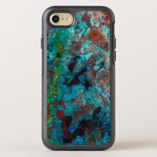 Coque Otterbox Symmetry Pour iPhone 7 Fermez-vous de Shattuckite bleu